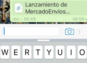 Nueva actualización de WhatsApp te permite compartir casi todo tipo de documentos