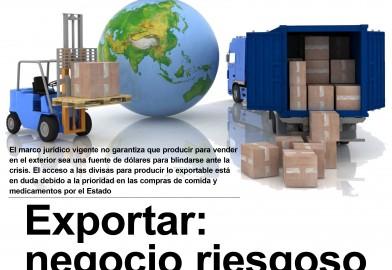 Exportar: negocio riesgoso