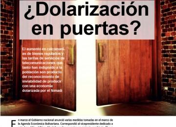 ¿Dolarización en puertas?