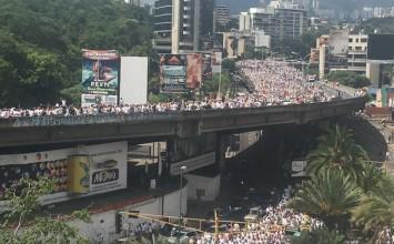 En fotos: Así luce masivamente La toma de Caracas