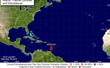 Tormenta tropical Matthew se convirtió en huracán