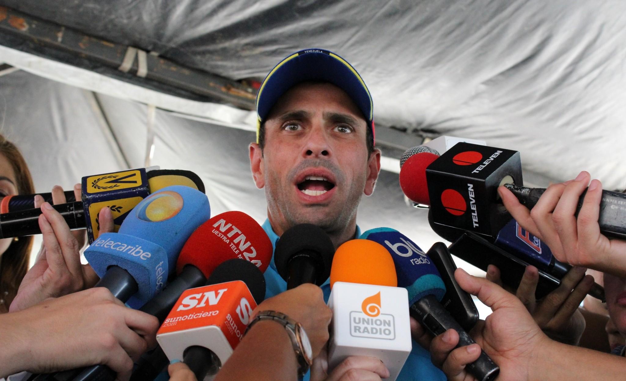 Venezuela: Henrique Capriles llama a retomar protestas contra Nicolás Maduro