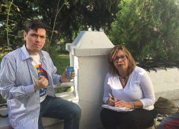 Rosmit Mantilla y Rosa Orozco se encadenan en la Nunciatura Apostólica (+ Video)