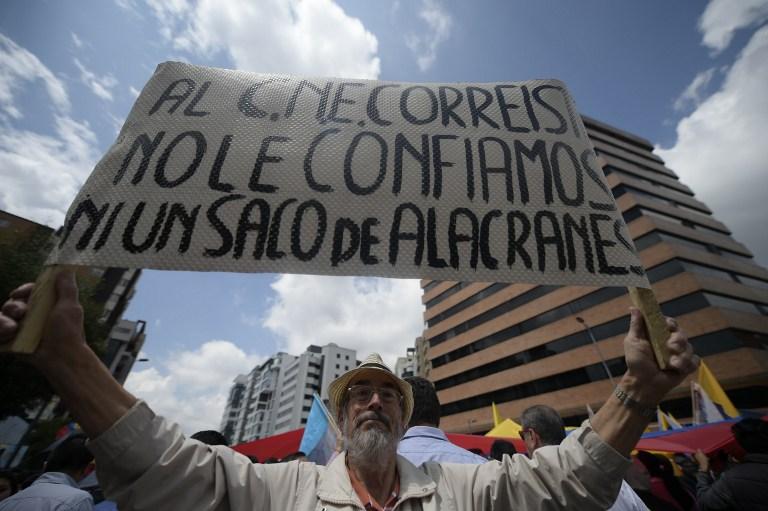 ECUADOR-ELECTION-RESULTS-PROTEST