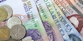 Peso colombiano subió este jueves 0,98% y cerró en 2.869 por dólar