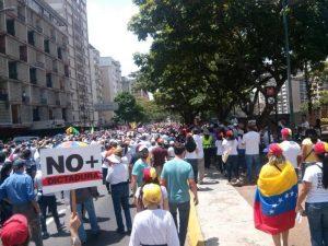 Protesta oposición