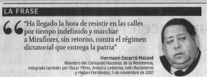 Hermann Escarrá cita
