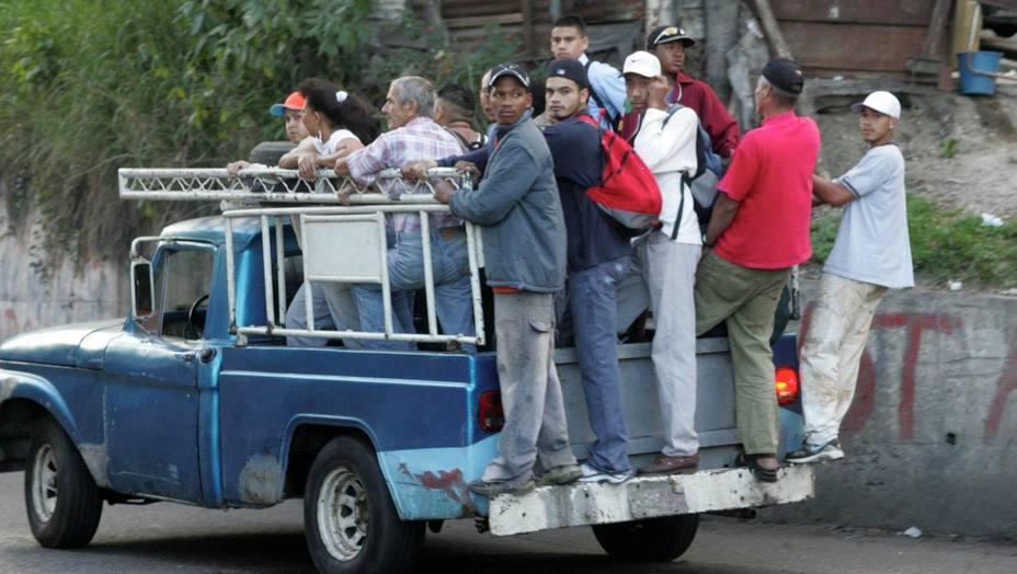 Caracas amaneció sin transporte público