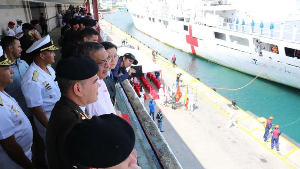 Barco hospital chino llegó a Venezuela para iniciar