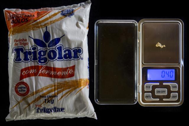 Un kilogramo de harina de trigo, importada de Brasil desde que la producción local falló: 0,40 gramos.