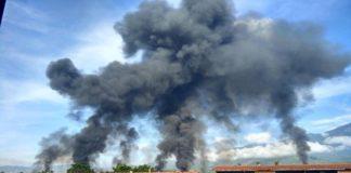 Incendio Planta PDVSA Guatire (Foto de El Universal)