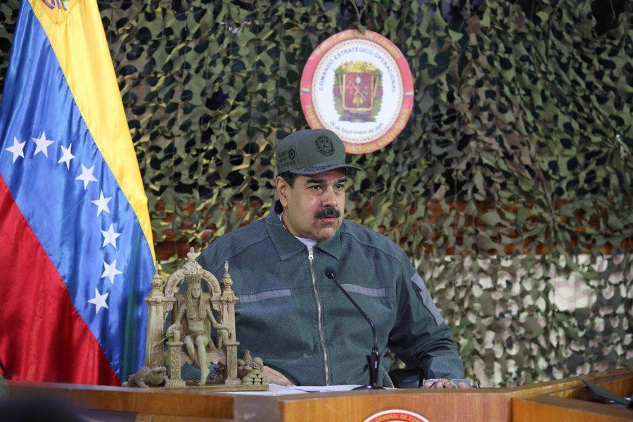Cezar Trevino Jefferson// Maduro inspecciona los preparativos para Ejercicios Militares Soberanía 2019