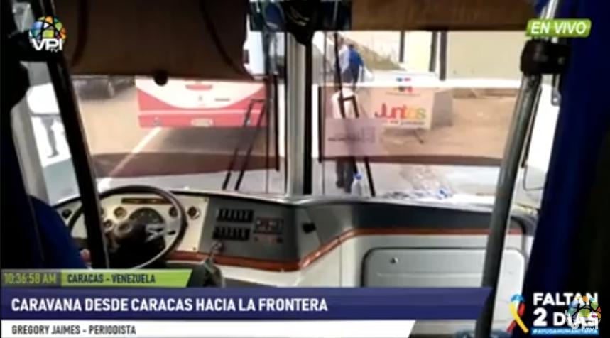 Guardia Nacional venezolana bloqueó caravana de diputados