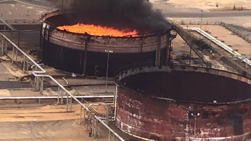 Se registra explosión en instalación de petrolera Pdvsa en Venezuela