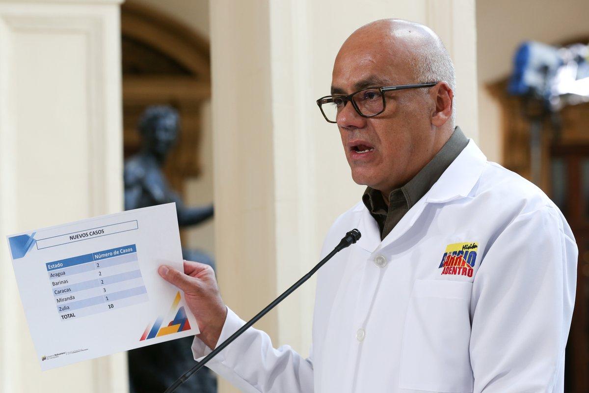 Venezuela registra 61 casos de coronavirus durante las últimas 24 horas