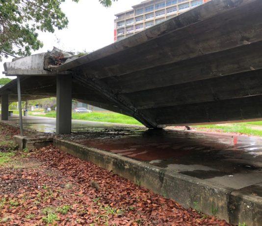 Pasillo cubierto de la UCV colapsó por el insuficiente presupuesto para su mantenimiento, reveló la Copred