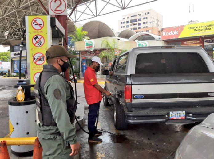 Distribución de gasolina en Lara