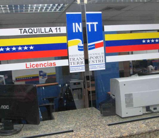 INTT actualizó tarifas de trámites vehiculares
