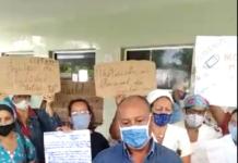 Personal médico en Acarigua protestó por falta de insumos