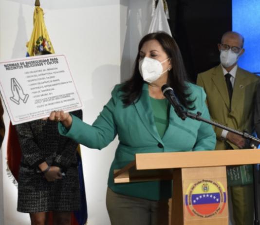 Carmen Meléndez: A partir del 1 de noviembre templos religiosos recibirán de nuevo a sus feligreses