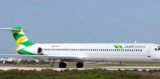 Laser confirma que fue sancionada por el INAC y no podrá volar a República Dominicana