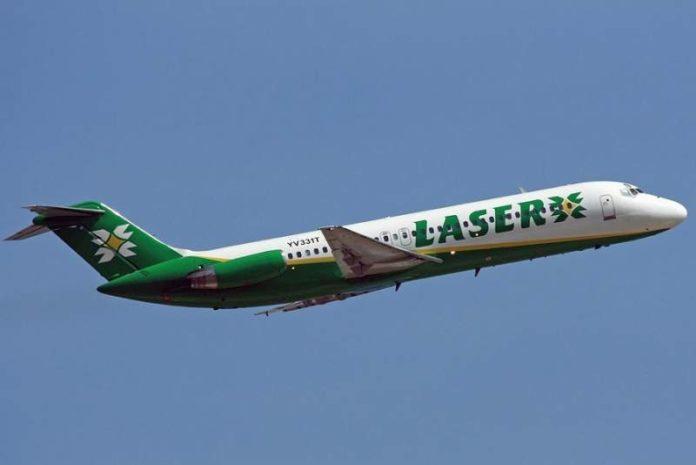 Laser reanuda sus vuelos comerciales entre Caracas y Santo Domingo