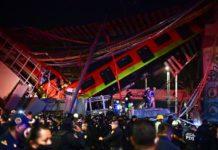 23 muertes dejó el desplome de un puente en el metro de Ciudad de México