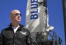Jeff Bezos, el hombre más rico del mundo, viaja al espacio a bordo de su nave de Blue Origin